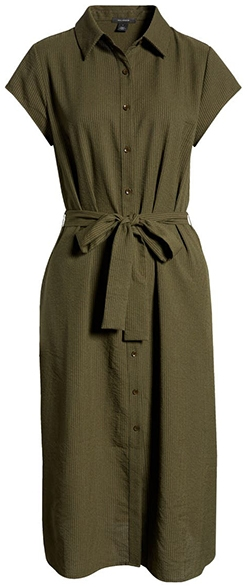 Halogen tie waist shirtdress | 40plusstyle.com