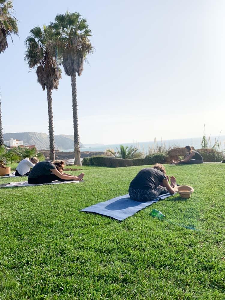 Yoga by the beach in Praia da Luz   40plusstyle.com