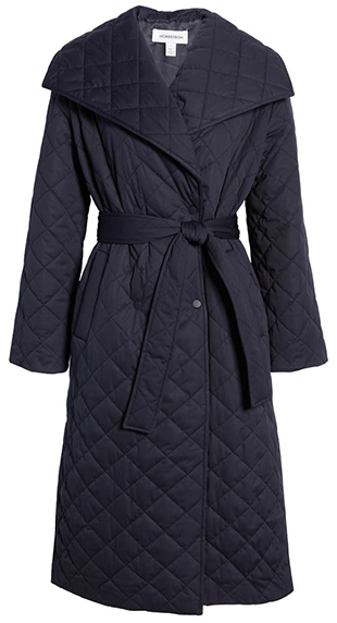 Nordstrom quilt trench coat | 40plusstyle.com