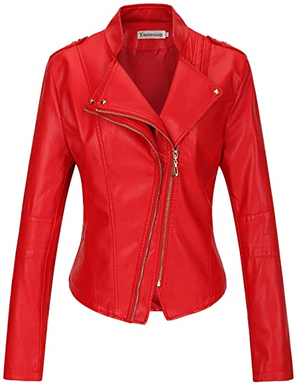 Tanming faux leather moto jacket | 40plusstyle.com