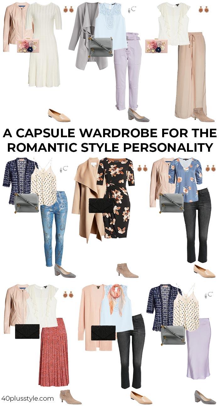 romantic style capsule wardrobe | 40plusstyle.com