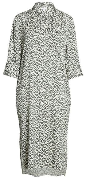 Nordstrom Signature silk shirtdress | 40plusstyle.com