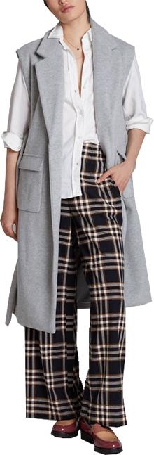 Anthropologie collared sleeveless sweater coat| 40plusstyle.com