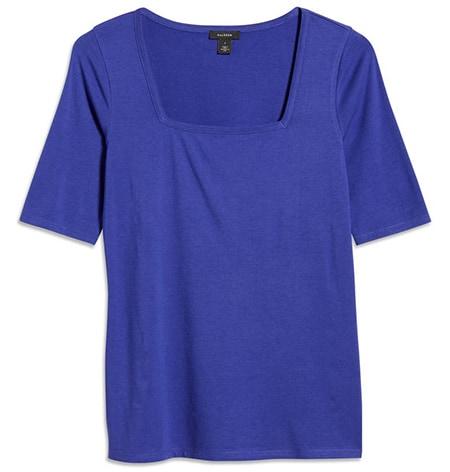 Halogen square neck knit top   40plusstyle.com