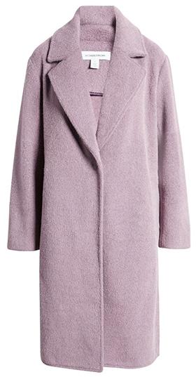 Nordstrom notch collar textured coat | 40plusstyle.com