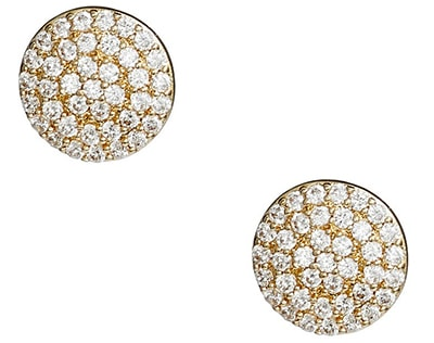Nordstrom pavé disc stud earrings | 40plusstyle.com