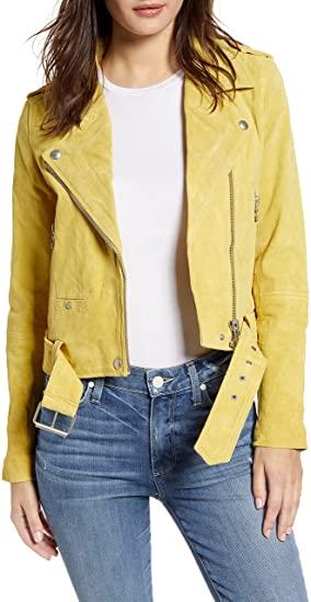 BLANKNYC suede leather moto jacket | 40plusstyle.com