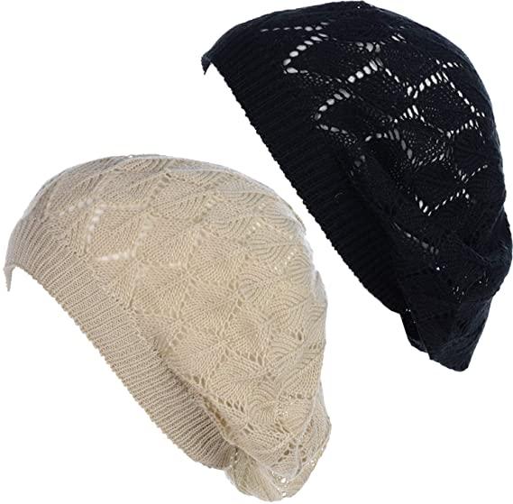 BYOS Chic Crochet Knit hats | 40plusstyle.com