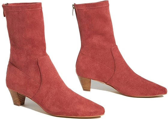 Anthropologie Silent D Tintel Heeled Ankle Boots | 40plusstyle.com