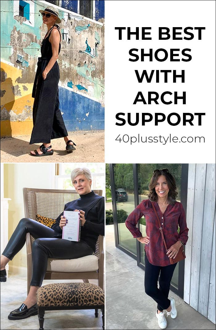 Best shoes with arch support - comfortable walking shoes to walk in all day   40plusstyle.com
