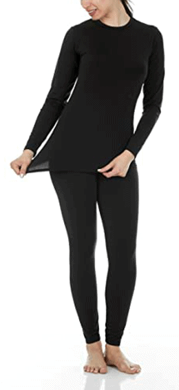 Thermajane Ultra Soft Thermal Underwear Long Johns Set | 40plusstyle.com