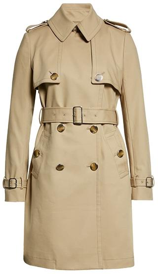 Club Monaco trench coat | 40plusstyle.com