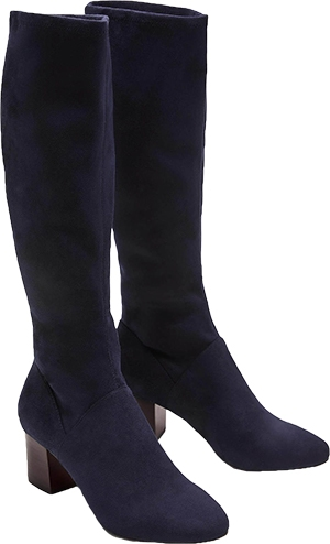 Boden Round Toe Stretch Boots   40plusstyle.com