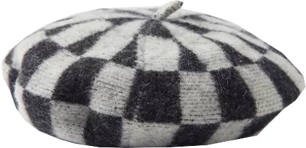 Urban Outfitters Checkered Beret | 40plusstyle.com