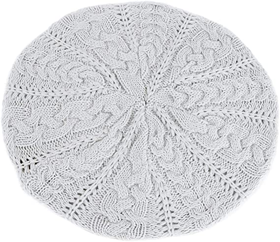 BG Soft Lightweight Crochet Beret | 40plusstyle.com