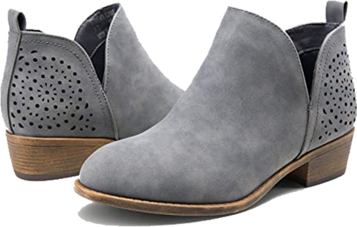 VEPOSE Cutout Ankle Boots| 40plusstyle.com