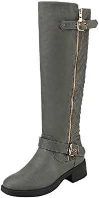 DREAM PAIRS Knee High Riding Boot   40plusstyle.com