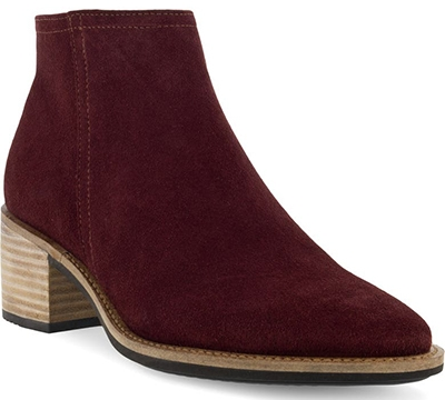 Boots with arch support - ECCO Shape 35 Water Repellent Bootie   40plusstyle.com