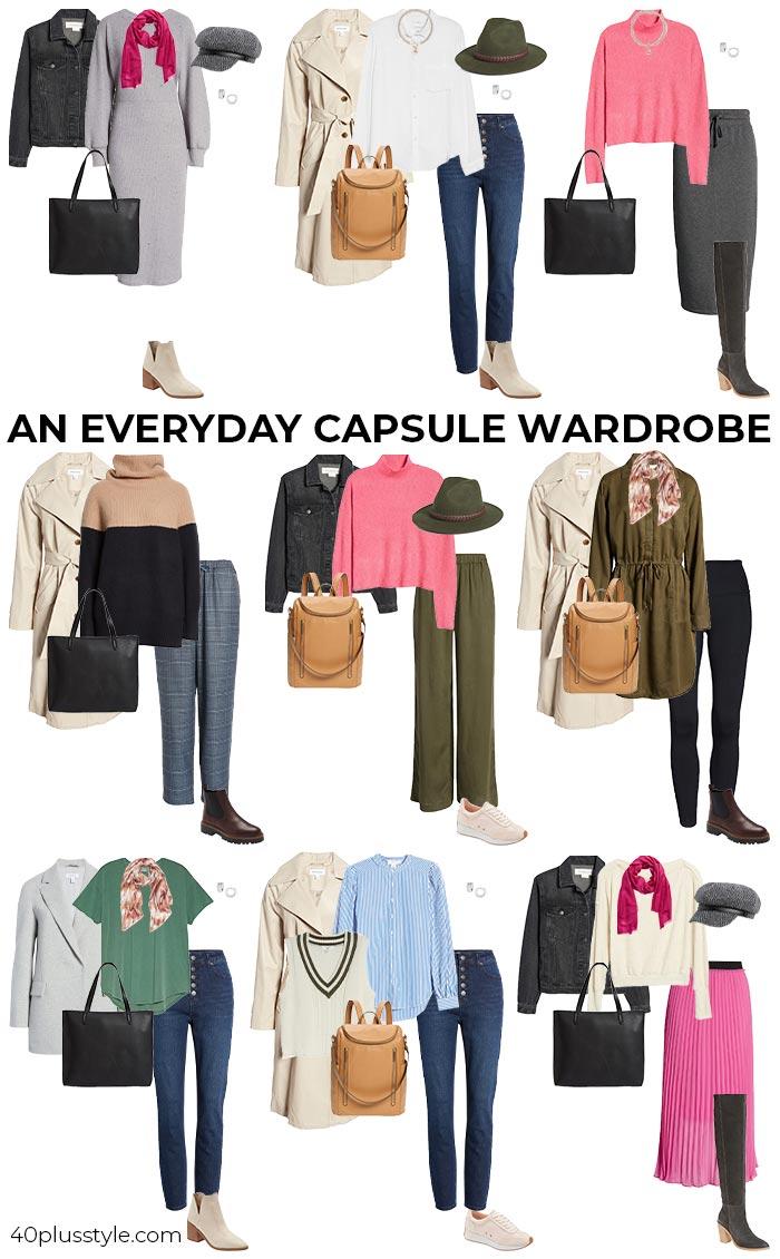 An everyday capsule wardrobe | 40plusstyle.com