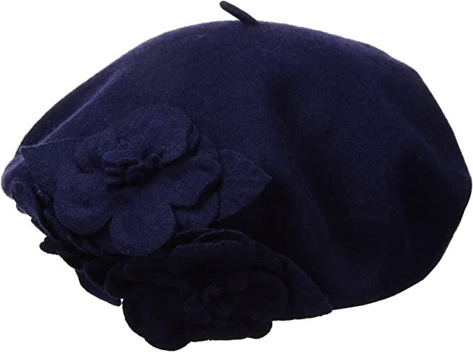 Betmar Flower Beret | 40plusstyle.com