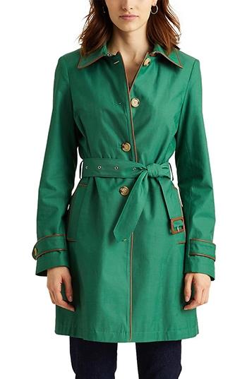 Lauren Ralph Lauren trench raincoat | 40plusstyle.com