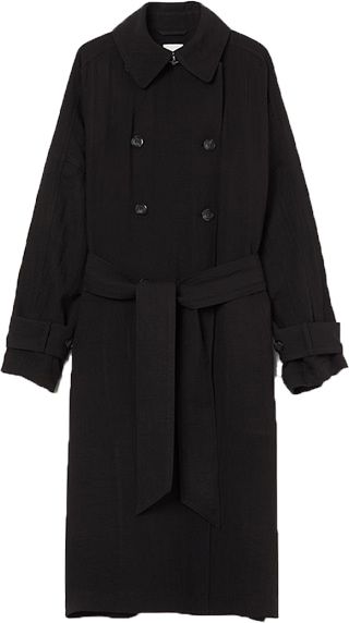 H&M oversized trench coat | 40plusstyle.com