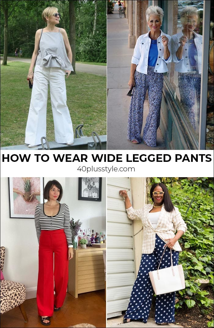 Wide legged pants: how to wear them in 2021 and where to buy the best ones | 40plusstyle.com