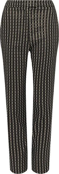 Karen Millen Geo Sparkle Stretch Jacquard Slim Leg Trouser | 40plusstyle.com
