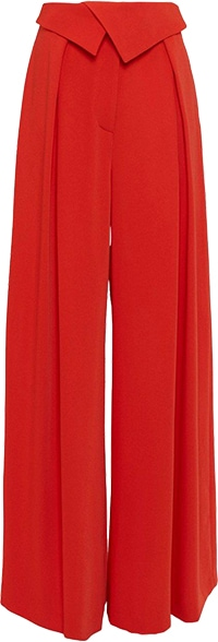 Karen Millen Soft Tailored Waist Detail Wide Leg Trouser | 40plusstyle.com
