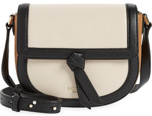 Kate Spade New York Knott Colorblock Pebbled Leather Crossbody Bag | 40plusstyle.com
