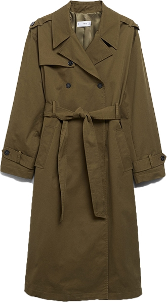 MANGO classic cotton trench coat | 40plusstyle.com