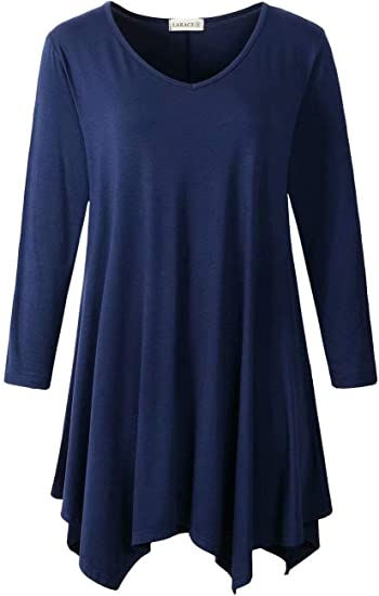 LARACE asymmetrical tunic top | 40plusstyle.com
