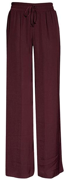 Socialite Satin Wide Leg Pants  | 40plusstyle.com