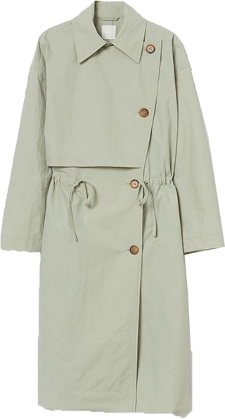 H&M trench coat | 40plusstyle.com