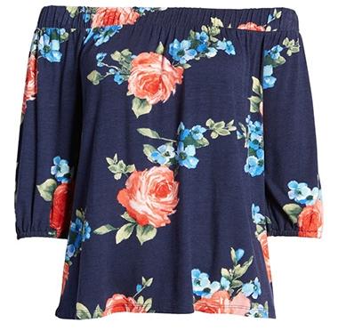 Floral top | 40plusstyle.com