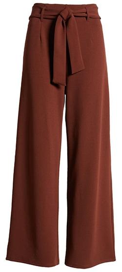 Open Edit Belted High Waist Pants | 40plusstyle.com