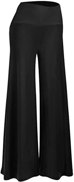 Arolina Stretchy Wide Leg Palazzo Lounge Pants | 40plusstyle.com