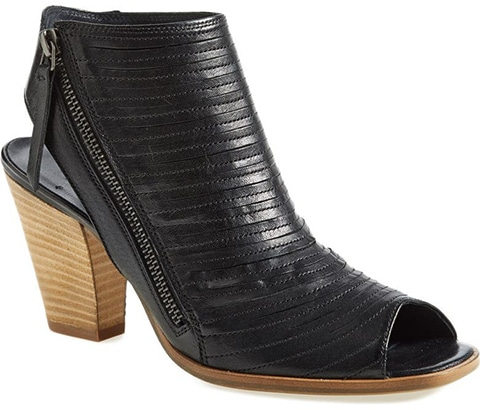 Paul Green Cayanne Leather Peep Toe Sandal   40plusstyle.com