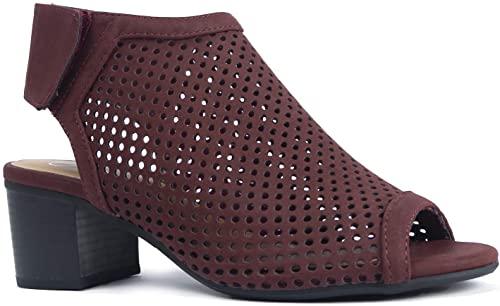 J. Adams Maddie Peep Toe Booties | 40plusstyle.com