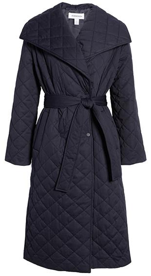 Norstrom diamond quilt trench coat | 40plusstyle.com