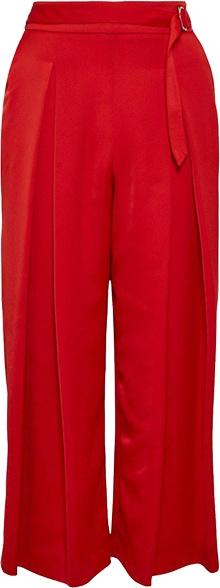 Karen Millen Satin Crop Wide Belted Detail Trousers | 40plusstyle.com