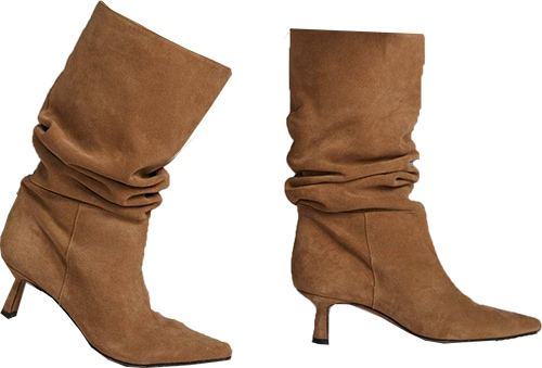 Anthropologie Pointed-Toe Calf Boots   40plusstyle.com