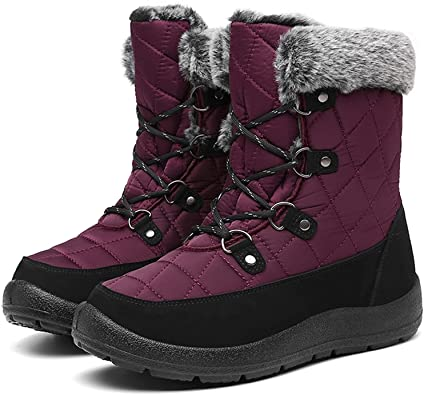 JSWEI Mid Calf Snow Boots   40plusstyle.com