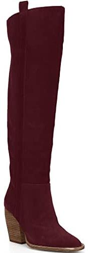 Ermonn Faux Suede Wide Calf Winter Boots   40plusstyle.com