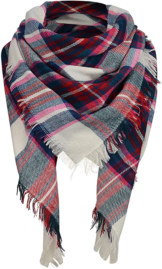 Zando Plaid Blanket Winter Scarf | 40plusstyle.com