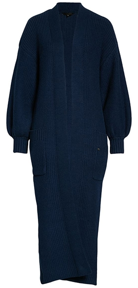 Ted Baker London Islabel Ribbed Cotton Blend Cardigan | 40plusstyle.com