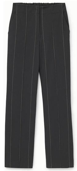 Thakoon Pinstripe High Waist Pants | 40plusstyle.com