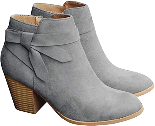 PiePieBuy Tie Knot Ankle Boots | 40plusstyle.cm