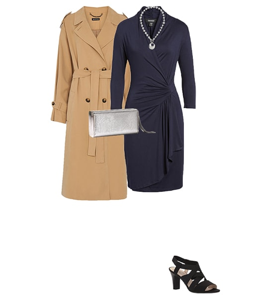beige and navy make a classic outfit choice | 40plusstyle.com