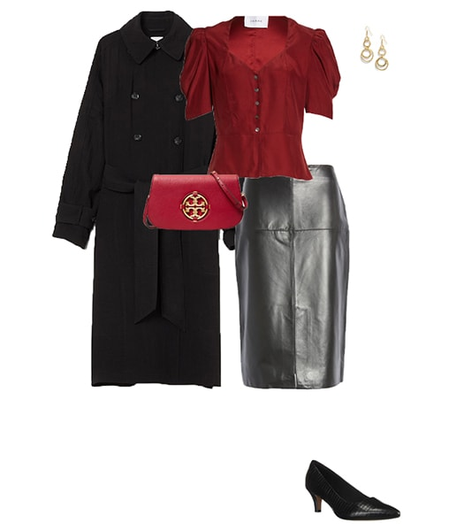 pairing leather with a classic coat | 40plusstyle.com